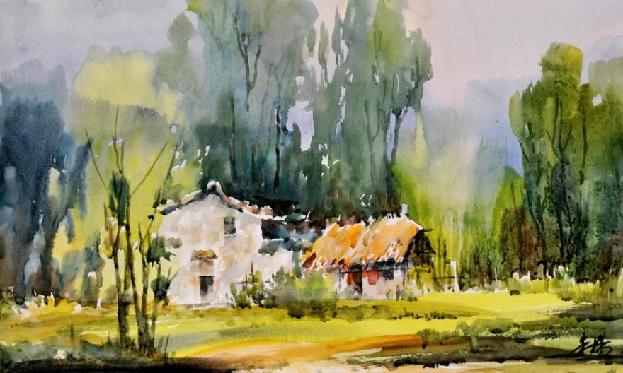 水彩风景画的构图和取景